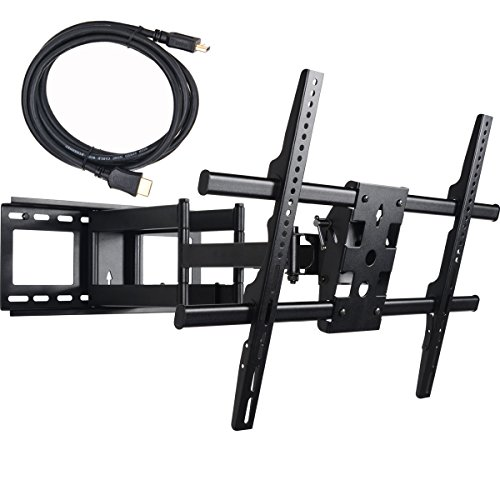 VideoSecu 25 inch Extension Heavy Duty Dual Arm Articulating TV Wall Mount Bracket for Most 37