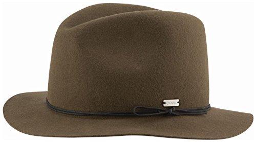 fa45a3dbb4167c Coal Women's The Drifter Crushable Wool Felt Short-Brim Fedora Hat, Pine,  Large   Hat Outlet Sale