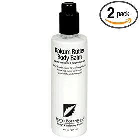 Better Botanicals Kokum Butter Body Balm for Dry/Damaged Skin, 8-Ounce Bottles (Pack of 2)