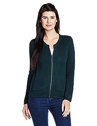 UCB Women's Cotton Jacket (16A1092D9278IA28XL_Deep Blue)