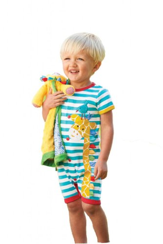 Mud Pie Baby-Boys Infant Giraffe Creeper, Multi, 12-18 Months front-576703