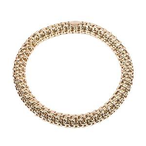 AmberJay Sterling Silver Stretch Bracelet, Yellow, Italian, UK Hallmark