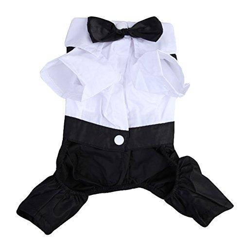 Vêtements pour chien/chat en bonne santé les clubs Prince Smoking Mignon Nœud Papillon pour chiot Manteau Combinaison pour Femme'