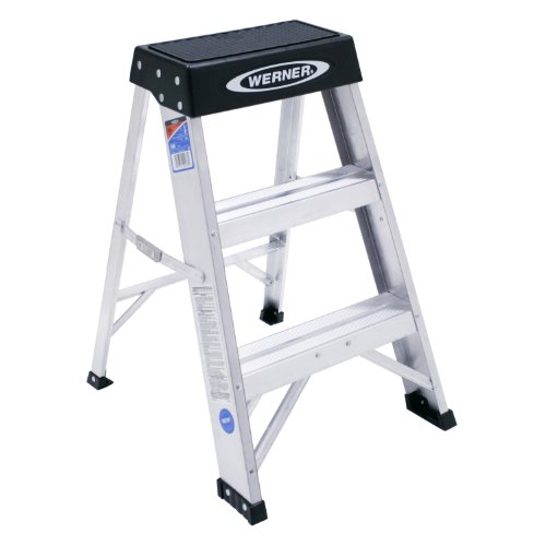 Werner 2-Foot Aluminum Step Stool Type IA