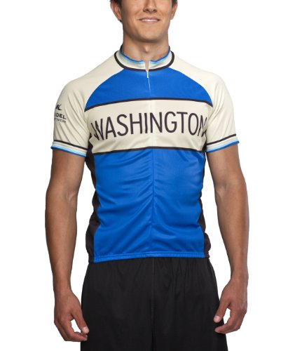 Buy Low Price Washington Classic Racer Cycling Jersey, Blue, Men's (WBC -M)