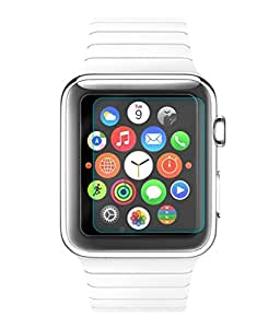 Apple Watch 38mm Compatible Tempered Glass Screen Protector (Antishock, Curved Edged) (Pack of 2, Only Front Transparent) (Combo Offer, get a VJOY 7800 mAh Power-Bank RED) (1 Year Replacement Guarantee, Li-ion Battery, Long Battery-Life) worth Rupee 2100/- absolutely free with Screen Protector)