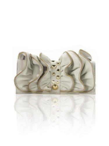Sara Berman Womens Liza Stud Wallet Ivory