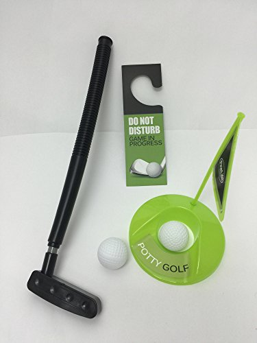 Golf Potty Putter Putting Game - A Whimsical Golfing Indoor Practice ...