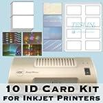 10 ID Card Kit - Laminator, Inkjet Te...