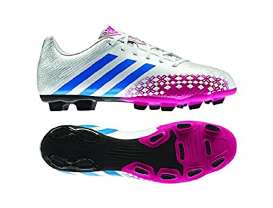New Adidas Women's Predito LZ TRX FG Soccer Cleats Wht/Pink/Blue 10.5 | Amazon.com