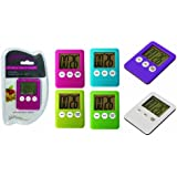 Electronic Timer Magnetic Kitchen Utensil Available in Various Colours