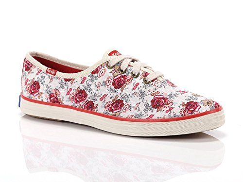 Keds, Donna, Taylor Swift Champion Floral, Canvas, Sneakers, Bianco, 39 EU