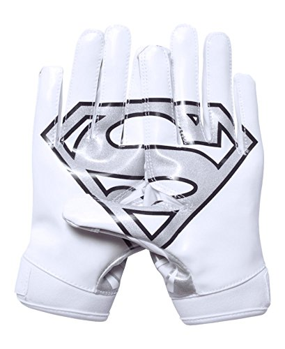 Under Armour Boys' Alter Ego Superman F5 Football Gloves, White (100), Youth Large (Football Gloves Under Armour compare prices)
