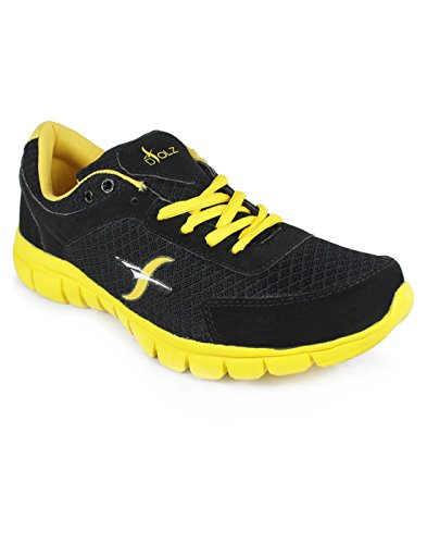D'solz Men's Synthetic Leather & Mesh Lace Up Sports Shoes