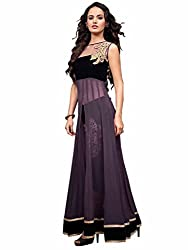 Trendz Apparels Purple Georgette Anarkali Salwar Suit