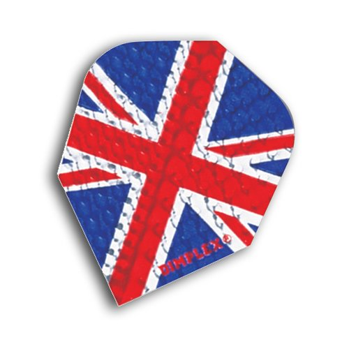 F6033 Union Jack Flag Dimplex Dart Flights 4 sets pro pack (12 flights insgesamt).
