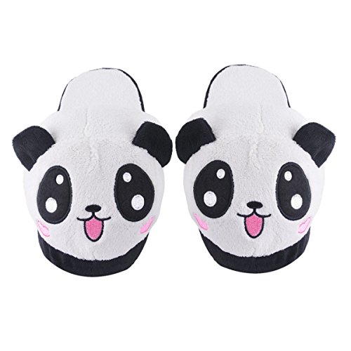 Pantofole Animali Donna - Chicone Ciabatte Invernali Panda Peluche Scarpe Donna Halloween Cosplay