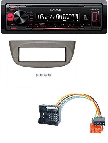 Kenwood-MP3-USB-Autoradio-fr-Renault-Twingo-2007-2014-beige-grau