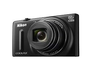 """Nikon Coolpix S9600 Appareil photo numérique compact 16 Mpix Écran LCD 3"""" Zoom optique 22X Noir"""