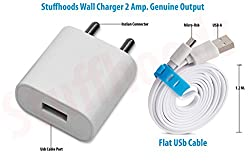 Samsung Galaxy S duos Compatible Wall Charger With 1.2 M Flat Usb Cable - (2 Ampere Genuine output)
