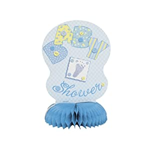 Babyshower Blue Stitch mini honeycomb decoration 6'' -4pk en BebeHogar.com