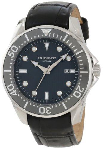 Rudiger Men's R2000-04-011L Chemnitz Grey Luminous Watch