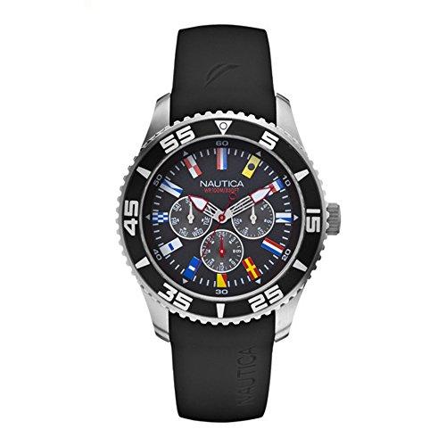 Nautica A12626G - Orologio da polso da uomo, cinturino in resina colore nero