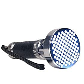 100 LED Aluminum Flashlight (Silver/Black)