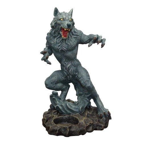 8 Inch Standing Werewolf Candle Holder
