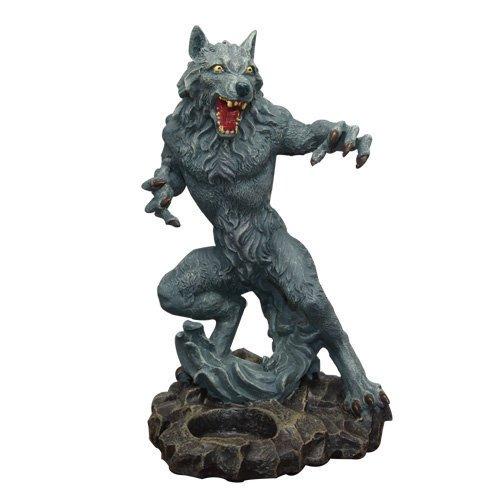 8 Inch Standing Werewolf Candle Holder