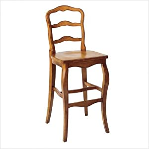 """Simply 30"""" French Bar Stool Finish: Ancestor Stain, Distressing: Heavy Antiqued"""