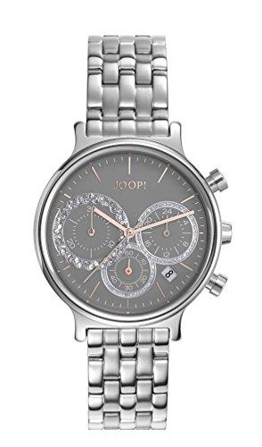 Orologio Donna Quarzo Joop! display Cronografo cinturino Acciaio inossidabile Argento e quadrante Grigio  JP101502015