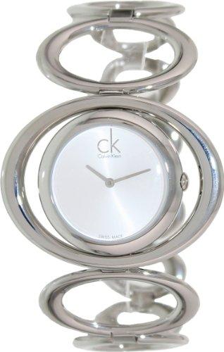 Calvin Klein Stainless Steel Round Silver Dial Women's Watch - K1P23120