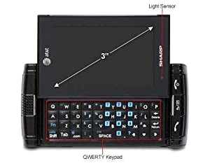 Sharp Fx Plus Unlocked GSM Phone With Android 2.2 Os 2mp Camera Touchscreen Qwerty Keyboard Wi-fi And Bluetooth Black