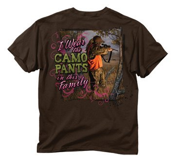 Buck Wear Camo Pants In The Family Chocolate Tshirt Medium