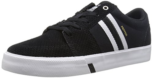 HUF Men's Pepper Pro Skateboarding Shoe, Black Perforated/White, 11 M US