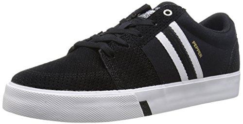 HUF Men's Pepper Pro Skateboarding Shoe, Black Perforated/White, 12 M US