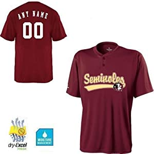 CUSTOM FSU Florida State Seminoles NCAA Officially Licensed Cool-Base Replica Jersey... by Holloway Authentic Sports Shop