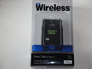 Just Wireless Power Case Portable back up Battery for iPhone 3GS, 3G - Doubles your Phone's Battery Life