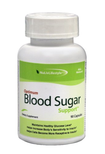 Optimum Blood Sugar Support - an all-natural supplement that balances blood glucose levels [3 bottles, 180 vegetable capsules]