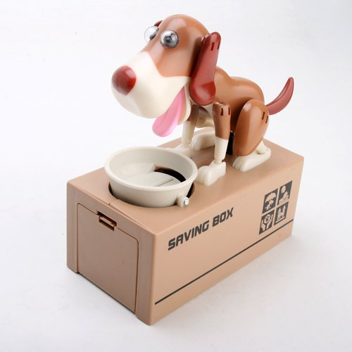 My Dog Piggy Bank - Robotic Coin Munching Toy Money Box - 1
