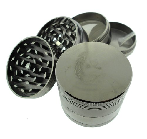 Titanium 4 Pc Herb Magnetic Grinder Medium 2.1 Inch