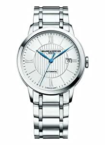 Baume and Mercier Classima Automatic Silver Dial Stainless Steel Mens Watch M0A10215
