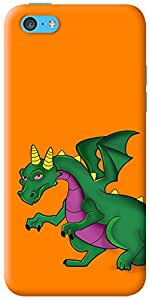 Kasemantra Angry Dino Case For Apple iphone 5c