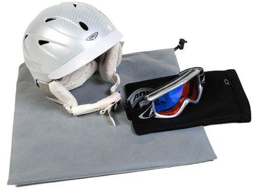 Helmbeutel Set für Skibrille und Skihelm Helmcase v Mivall (blau/schwarz)