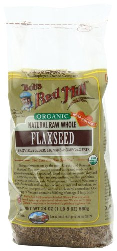 Bobs Red Mill Organic  Whole Flaxseed Brown, 24-Ounce Packages (Pack of 4)