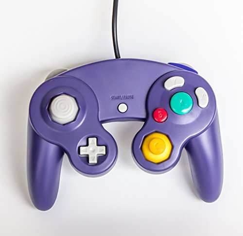 Old Skool GameCube / Wii Compatible Controller - Purple (Gamecube Super Smash Bros Melee compare prices)