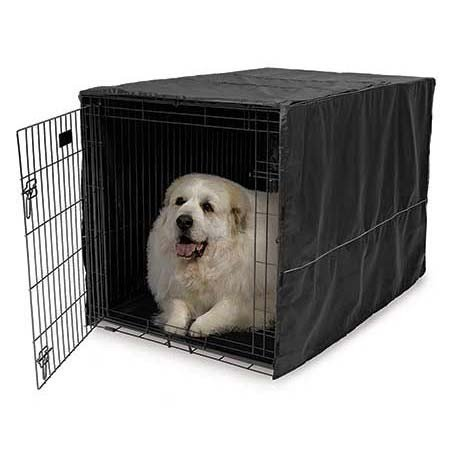 Midwest Black Polyester Crate Cover For 42 Inch Wire Crates, 42 Inches By 28 Inches By 30 Inches