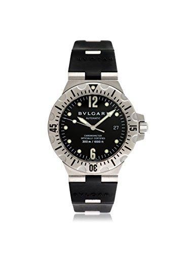 Bulgari Men's Pre-Owned Diagono Professional Black Rubber Watch