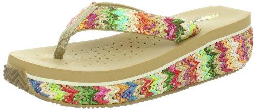Volatile Women'S Bairfoot Thong Sandal,Rainbow,8 B Us front-614504